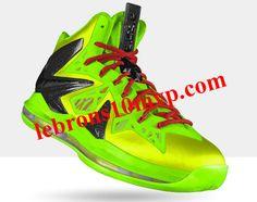 Nike LeBron X PS Elite Volt Lime Green Crimson