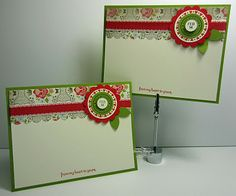 simple flat card idea for correspondence - good idea when I need to make a quick set as gifts with different sentiments