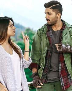 Movie Couples, Famous Couples, Cute Couples, Indian Actress Photos, Indian Actresses, Actors & Actresses, Cute Couple Poses, Couple Posing, Allu Arjun Hairstyle