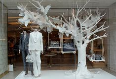 love this Mulberry butterflies windows Spring 2013 London