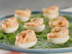 Get Remoulade Deviled Eggs with Pickled Shrimp Recipe from Food Network