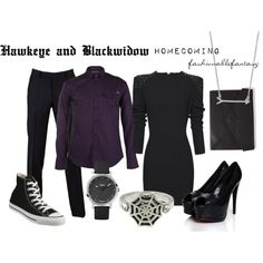 """""""Hawkeye and Blackwidow Homecoming"""" by fashionablefantasy on Polyvore. Lovelove"""