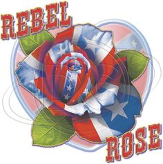 Confederate Flag Rose