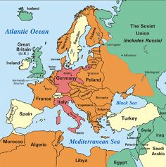Map of europe during world war ii world war ii was fought during the axis aggression in europe 1937 1942 germany and italy red pre war axis occupation orange allied countries green neutral countries yellow gumiabroncs Gallery
