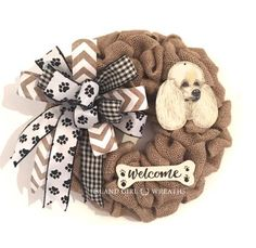 """Outstanding """"poodle pups"""" information is readily available on our internet site. Read more and you wont be sorry you did. Dog Wreath, Wreath Burlap, Burlap Ribbon, I Love Dogs, Cute Dogs, Tea Cup Poodle, Dog Hacks, Dog Show, Little Dogs"""