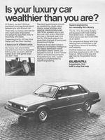 Subaru GL-10, 1983 Ad Picture