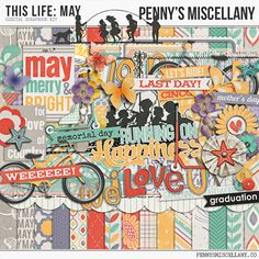 Spring is in full bloom so let's head outdoors with the digital scrapbook bundle, This Life: May by Penny's Miscellany!