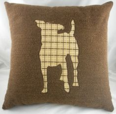 Jack Russell silhouette cushion