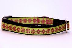 Adjustable Dog Collar with Matching by HandmadeInTheHammer on Etsy, $25.00