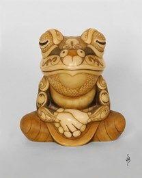 Buddha frog ~ 125mm