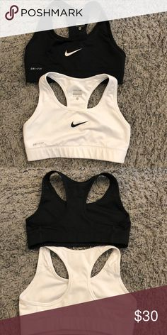 Nike sports bras Great condition! Selling both black and white Nike Intimates & Sleepwear Bras