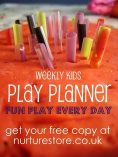 How's your summer so far? In need of a little kids' fun inspiration? Nurturestore's weekly Play Planner has a kid-friendly rocky road recipe, tickle sticks and junk model riding stables this week. Sign up for a free copy for fun ideas for every day of the week.