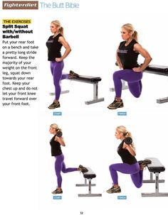 Split Squat with/without Barbell