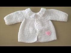 47 ideas crochet patrones bebe saco for 2019 Cardigan Au Crochet, Cardigan Bebe, Baby Cardigan, Sweater Jacket, Crochet Baby Clothes, Crochet Baby Hats, Baby Knitting, Pull Crochet, Crochet Lace