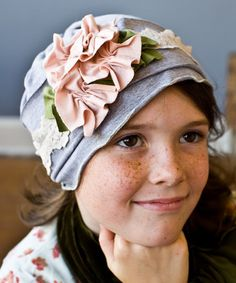 Another great find on #zulily! Pink & Gray Victorian Hat by Snugars #zulilyfinds