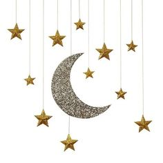 Hanging Moon and Stars Decoration