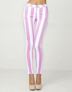 WHERE CAN I FIND THESE, BUT CROPPED AND BABY BLUE STRIPES??? my ultimate goal is to find a pair of pants like that.These Motel jeans are cute though style-icon
