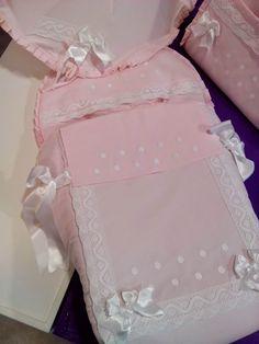 b e b e t e c a: BODOQUES,PUNTILLAS Y LAZOS PARA SILLA BEBECAR. Sombrilla rosa con acabado en blanco.