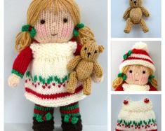 Tilda and Tommy-Ted toy teddy bear dolls knitting por toyshelf