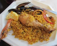 A wonderful plate of paella from the Feria de Nîmes in France