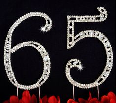 65th Birthday Wedding Anniversary Number Cake by CreationsByDhyani, $34.99