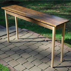 """Solid Bocote, maple and black walnut console table or front entry table.  60""""L x 13""""W x 30""""H"""