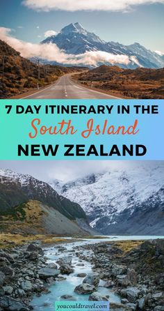 This is a self-driving weeklong itinerary in the South Island in New Zealand. You will find information on where to sleep, where to eat and what to do in each location. A handy, step by step guide to enjoying your itinerary in New Zealand. New Zealand Itinerary, New Zealand Travel Guide, Visit New Zealand, New Zealand South Island, Brisbane, Melbourne, Sydney, Places To Travel, Travel Destinations