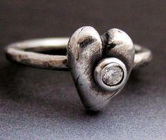 Pretty heart ring.