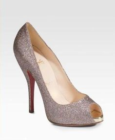 every girl needs glitter shoes! especially to wear with that bra (having louboutin's doesn't hurt either)