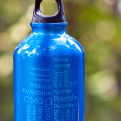 A practical way to carry around your #scape ! Etch your scape onto a #waterbottle for your graduate and they'll be hydrated (and feel loved at the same time!). #Graduation #GraduationGift #Scapes #ShareScapes