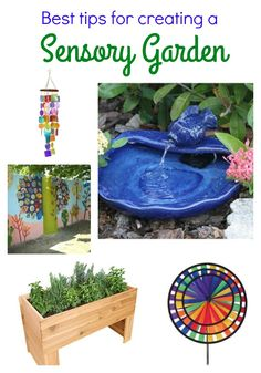 Great ideas for creating a sensory garden from Joyful Journey Mom