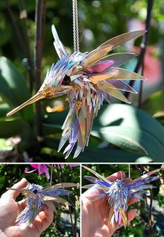 Artist Turns Old CDs Into Amazing Sculptures Instead Of Throwing Them Away Animal Sculptures Made Of Shattered Cds Recycled Cds, Recycled Art Projects, Recycled Crafts, Art From Recycled Materials, Art Cd, Recycler Diy, Seashell Centerpieces, Diy Recycling, Recycle Art