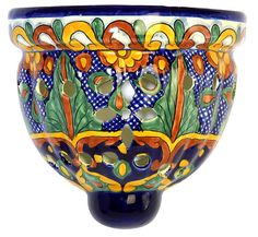 All of our Mexican Talavera items are handmade and handpainted by Mexico's talented potters. Only $55.50