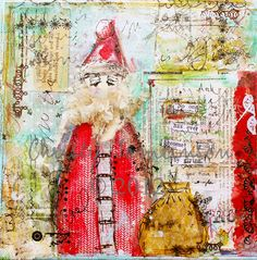 Christmas is for Giving, St. Nick  Mixed Media Print by Christy Tomlinson