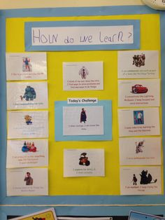 Characteristics of effective learning display