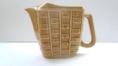 Vintage French Yellow Straw Water Pitcher by pentyofamelie on Gourmly
