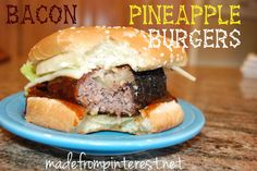 Get ready for summer with these Bacon Pineapple Burgers! │ madefrompinterest.net