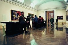 The floor of the Museo Nacional del Prado (Madrid, Spain) covered with #GrisPulpis #marble.