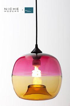 Pretty glass-modern light. #lights #beautiful #EPiC #interiors #products #bright #decor #stylish #design