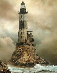 Le phare d'Aniva Rock, Russie...lieux, abandonnes, partir, etranger, monde, beaux, plus, chateaux, phare