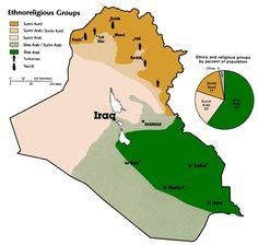 Iraq ethnic/religious map