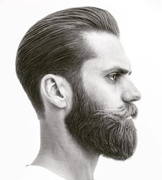 Businessman Style Haircut Slick Back with Full Beard 45 Stylish Hipster Hairstyles for Men Beard Styles For Men, Hair And Beard Styles, Long Hair Styles, Style Indie, Grunge Style, Soft Grunge, Hipster Haircuts For Men, Full Beard, Face Contouring