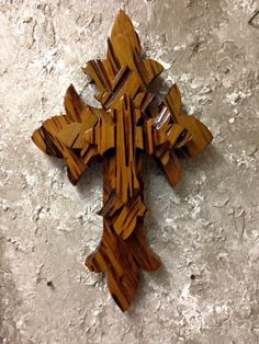 PCTC22 Unique Handcrafted Pecky Cypress Tri Layered Cross Wall Hang by CajunCountryCreat on Etsy