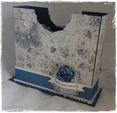 Gunns Papirpyssel, Maja Design, papirbretting, paperfolding, 3D, serviettholder, napkin box, scrapbooking, scrapbooking, papir, paper