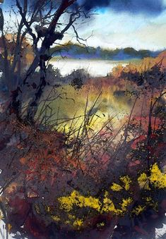 Pete Gilbert is a UK artist based in The New Forest. He works mainly in oils on both landscapes and abstract compositions. Abstract Landscape Painting, Watercolor Landscape, Landscape Art, Landscape Paintings, Watercolor Trees, Abstract Watercolor, Watercolor Paintings, Watercolours, 7 Arts