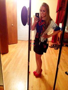 Goralskie fashion: Skirt,purse,belt,scarf,shirt,and necklace