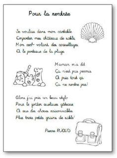 Poésie Pour la rentrée de Pierre Ruaud