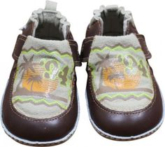 Robeez Mini Shoez Gnarly Dude Infant Soft Sole Shoes Size 9-12 months