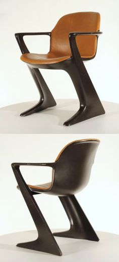 Z-chair  by Ernst Moeckl for Horn, Germany ABS plastic 1965