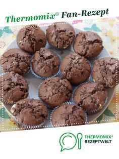 with children's chocolate - Mafrajo children's chocolate muffins. A Thermomix ® recipe from the category baking sweet www -Muffins with children's chocolate - Mafrajo children's chocolate muffins. A Thermomix ® recipe from the category baking sweet www - Baking Recipes, Cake Recipes, Dessert Recipes, Party Desserts, Nutella, Chocolate Thermomix, Desserts Sains, Food Cakes, 3 Ingredients